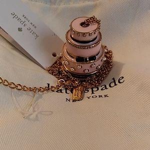 Kate Spade take the cake wedding necklace NWT